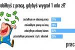 Ilu Polaków rzuciłoby pracę, gdyby wygrało 1 mln zł?