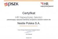 Nestlé kolejny raz wyróżnione Certyfikatem HR Najwyższej Jakośc